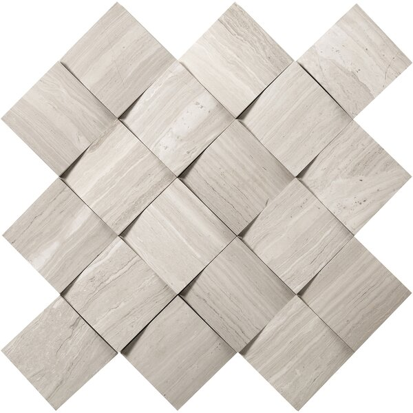 Metro Cushion 2 x 2 Marble Mosaic Tile in Cream by Emser Tile