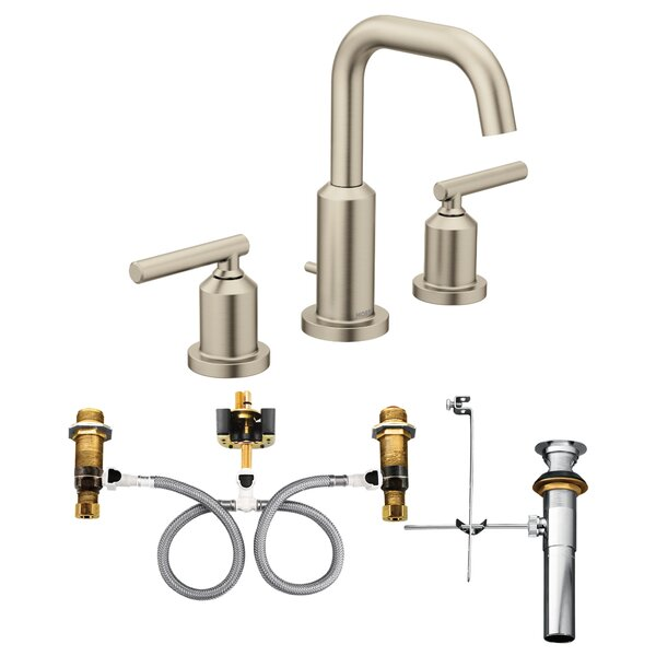 Gibson Widespread Bathroom Faucet with Drain Assembly