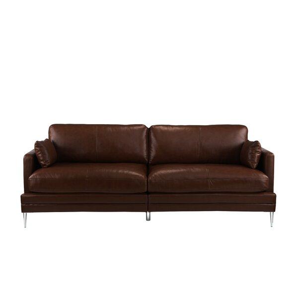 Mid Century Sofa Wood Arms | Wayfair