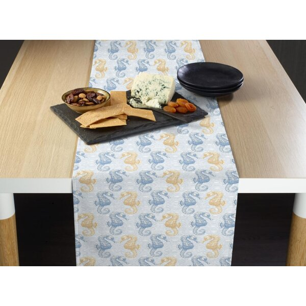 Camie Marine Life Seahorses Milliken Signature Table Runner by Highland Dunes