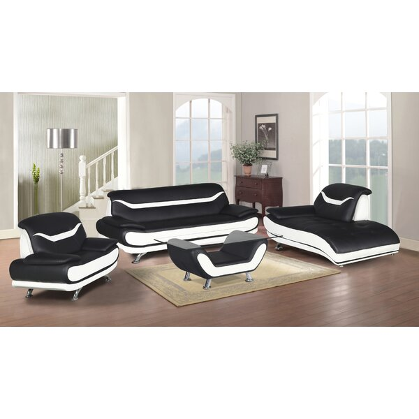 Hamon 4 Piece Living Room Set by Orren Ellis