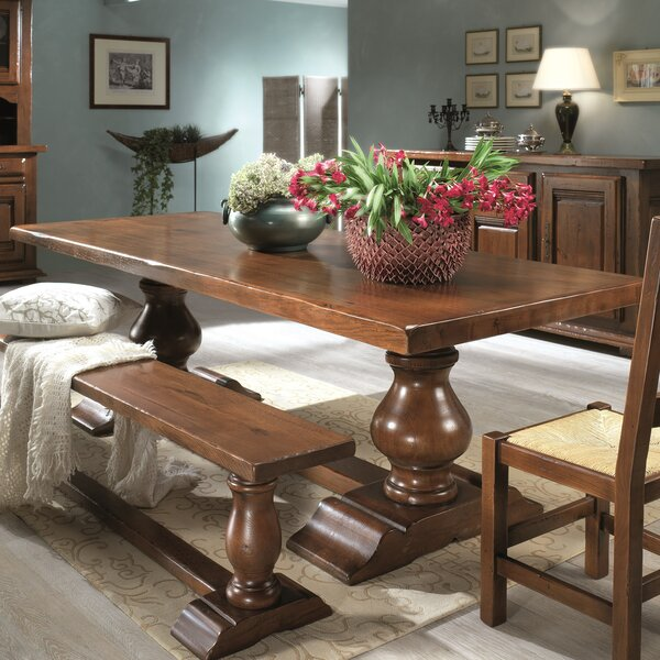 Orleans Cevennes Solid Wood Dining Table by Wildon Home®