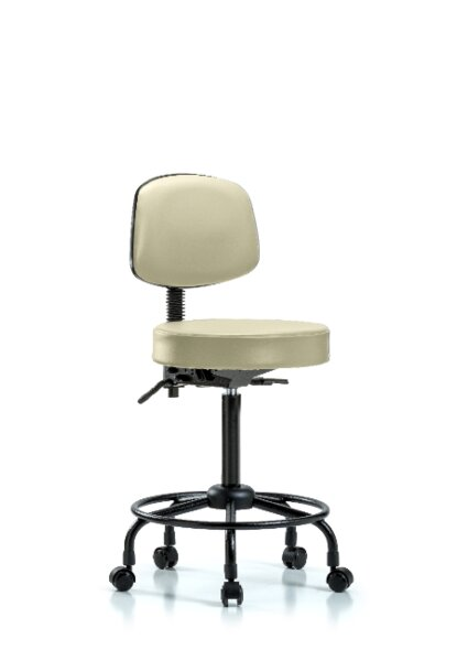 Zachary Round Tube Base Height Adjustable Lab Stool by Symple Stuff