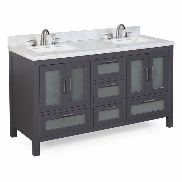 Manhattan 60 Double Sink Bathroom Vanity Set by Kitchen Bath Collection