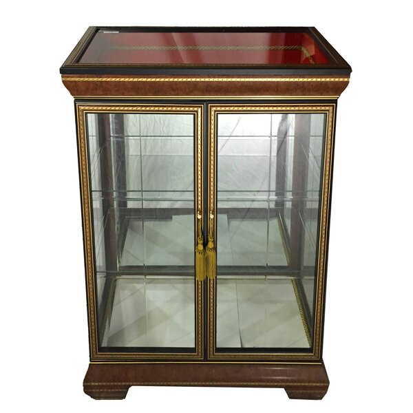 Scotto Fine Italian Wooden Double Door Curio Cabinet by Astoria Grand