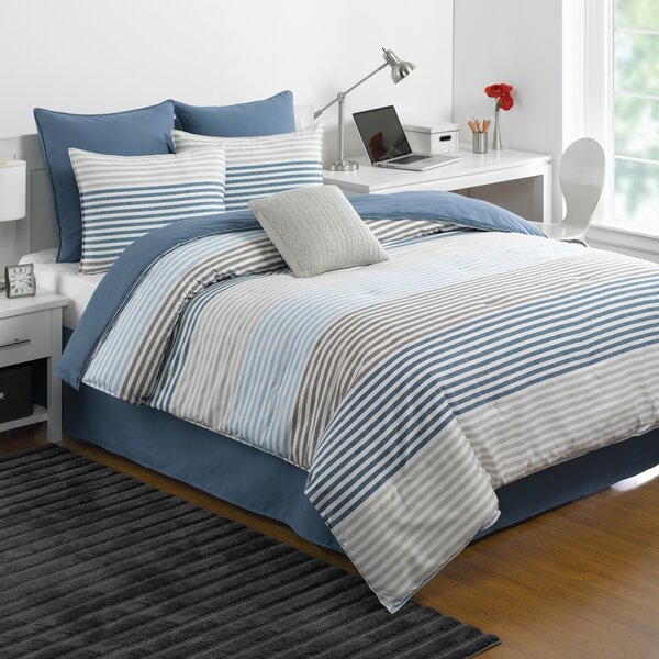 Chambray Stripe Comforter Set by IZOD