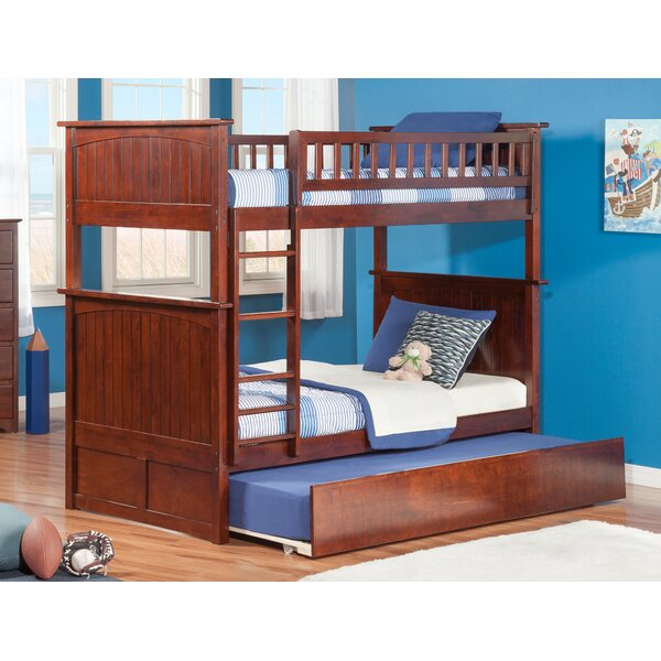 Abbie Twin Over Twin Bunk Bed with Trundle by Harriet Bee