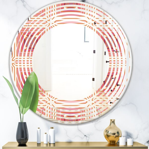 Wave Geometric Design II Modern Frameless Wall Mirror