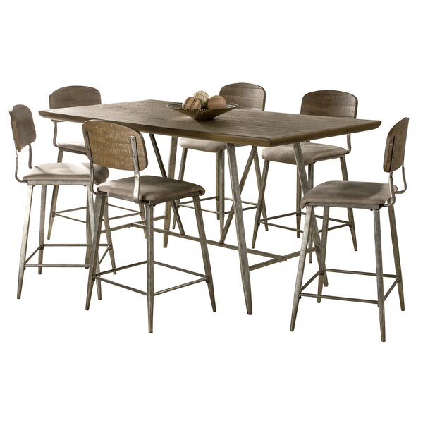 Georgia 7 Piece Counter Height Dining Set by 17 Stories