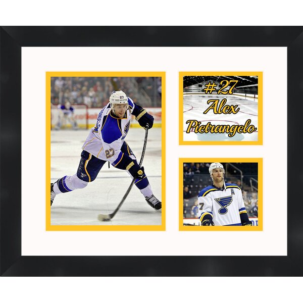 St Louis Blues Alex Pietrangelo 27 Photo Collage Framed Photographic Print by Frames By Mail