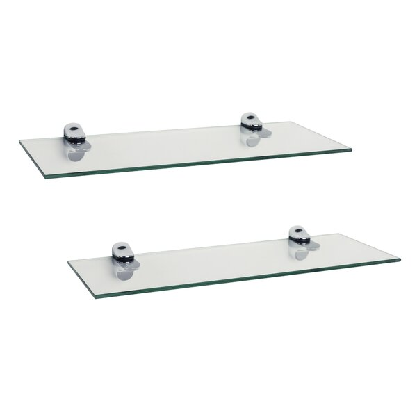 Troian Rectangle Glass Floating Shelf (Set of 2) by Zipcode Design
