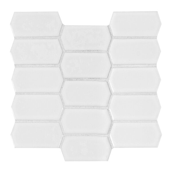 Retro Picket Bianco PorcelainMosaic Tile