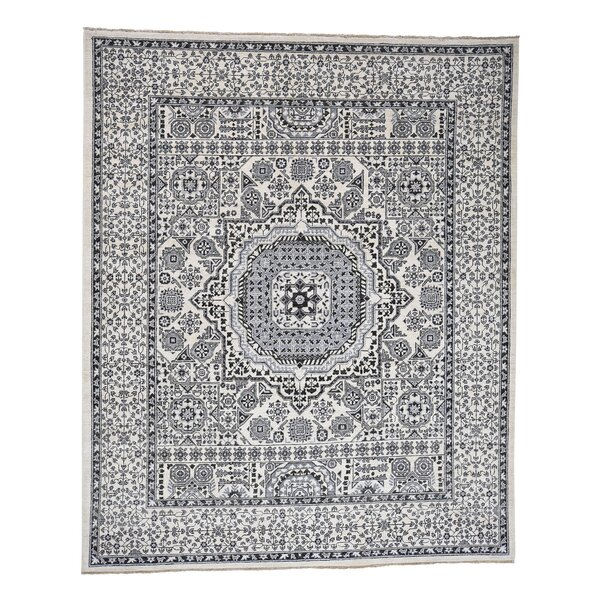 One-of-a-Kind Ensor Vintage Look Natural Oriental Hand-Knotted Ivory Area Rug by World Menagerie