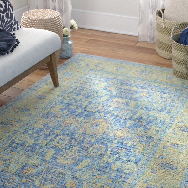 Doline Blue/Yellow Area Rug by Mistana