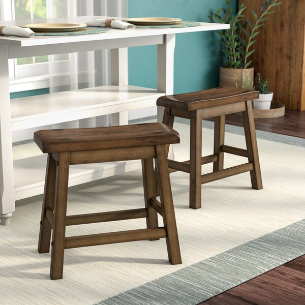 Bates 18 Wood Bar Stool (Set of 2) by Andover Mills