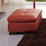 Amira Leather Ottoman By Orren Ellis