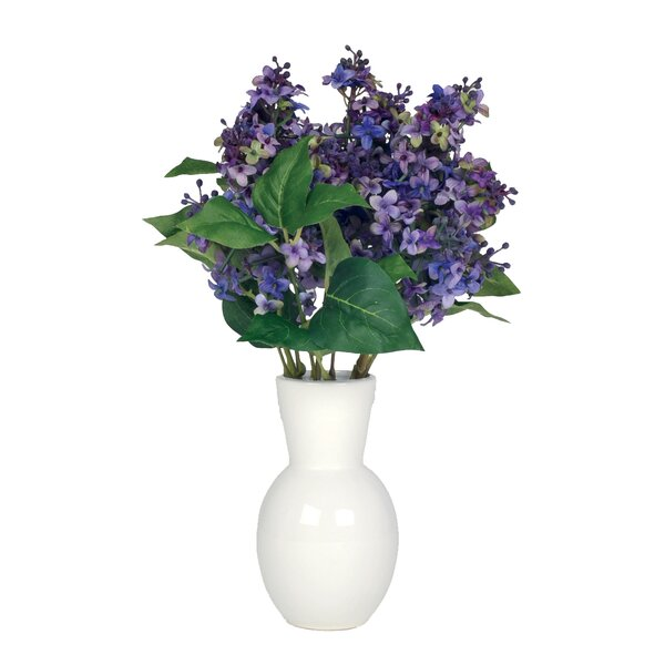 Artificial Lilac in Ceramic Vase by House of Silk Flowers Inc.
