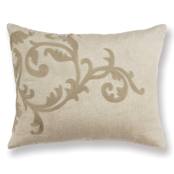 Gustave Scroll Linen Lumbar Pillow by Ophelia & Co.