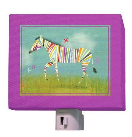 Rainbow Zebra Night Light by Oopsy Daisy