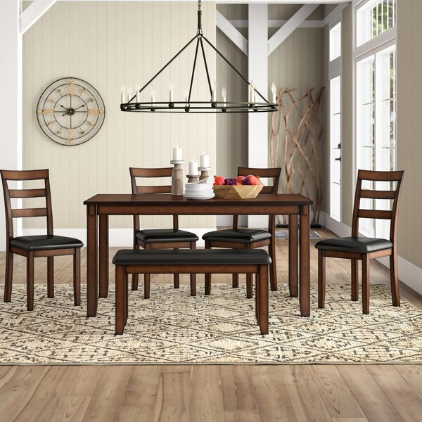 Carolina 6 Piece Dining Set by Millwood Pines