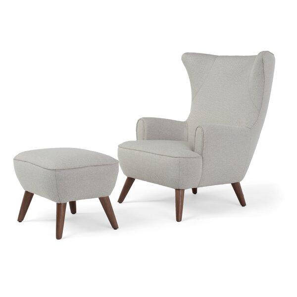 Corrigan Studio Ruby High Back Wingback Chair And Ottoman U0026 Reviews    Wayfair