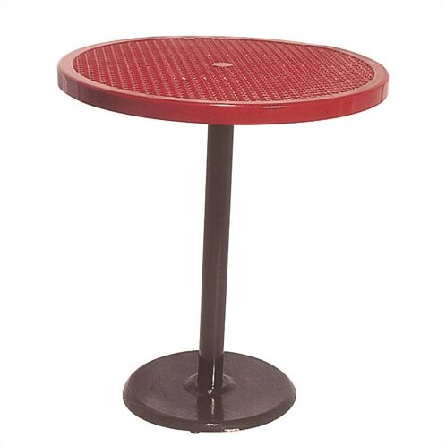 Portable Round Food Court Picnic Table with Perforated Pattern by Ultra Play