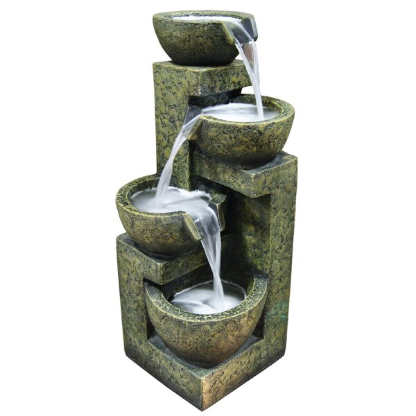 Fiberglass/Polystone Three Tier Water Fountain by Alpine