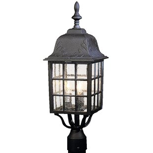 Compare prices Oakhill Outdoor Aluminum 3-Light Post Light By Charlton Home