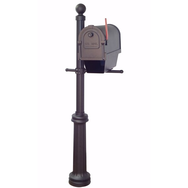 Savannah Curbside Mailbox with Fresno Post Included by Special Lite Products