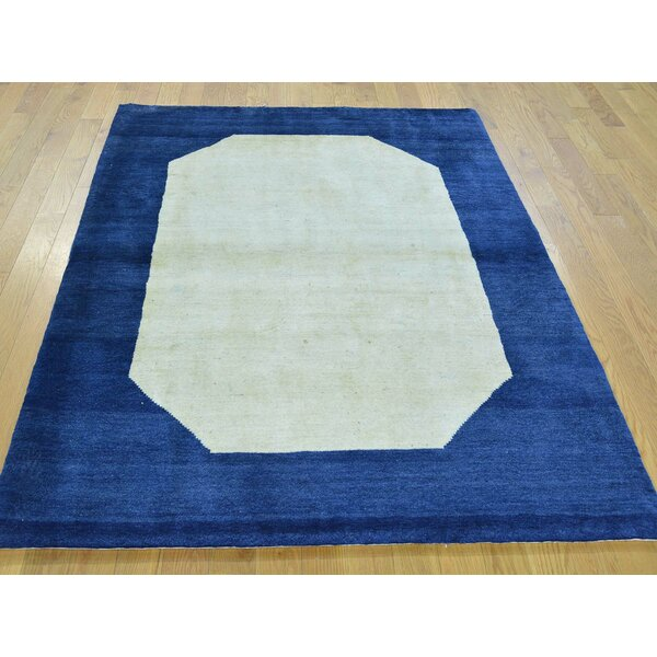 One-of-a-Kind Becker Hand-Knotted Ivory Wool Area Rug by Isabelline