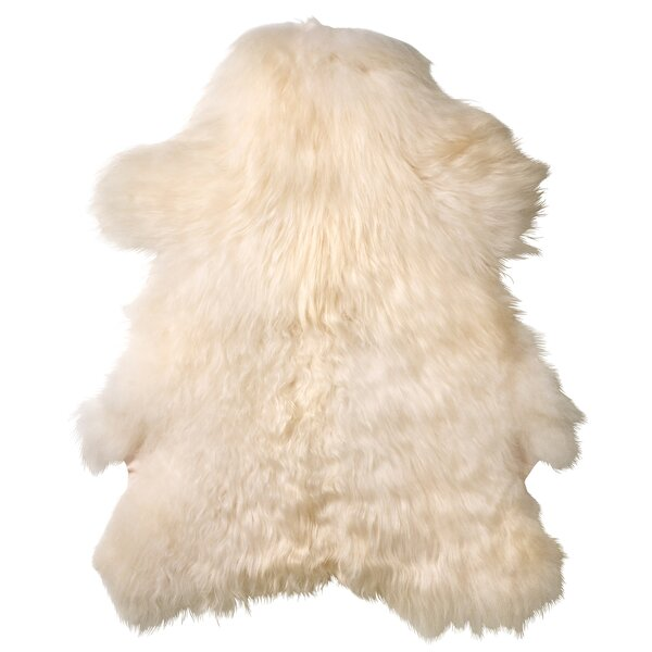 Creasey Faux Sheepskin White Area Rug by George Oliver