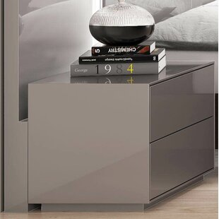 Alexia 2 Drawer Nightstand by Orren Ellis