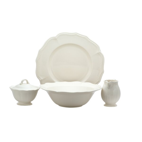 Classic White 4 Piece Serving Set by Red Vanilla