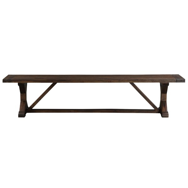 Stalvey Trestle-Style Wood Dining Bench by Millwood Pines