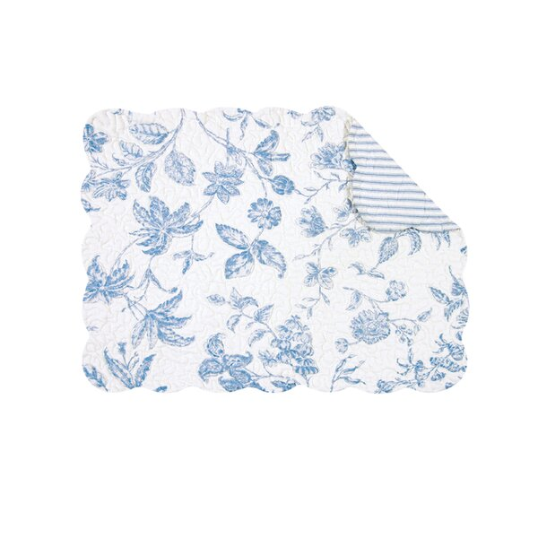 Yeaw Reversible Quilt Scallop Placemat (Set of 6) by August Grove