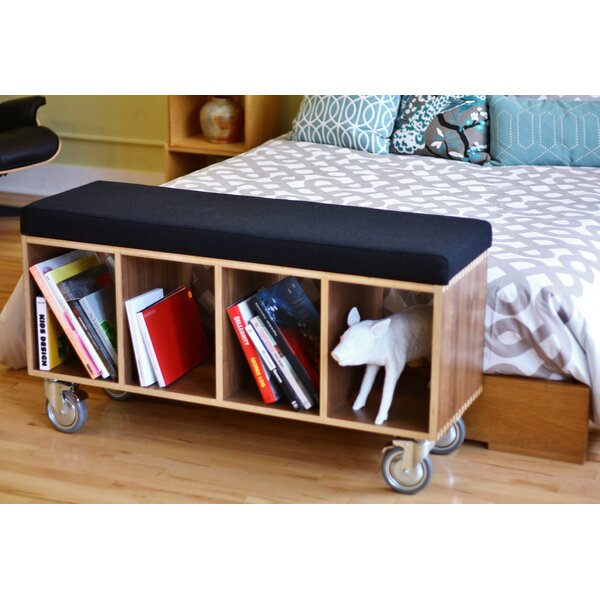 Wood Storage Bench by Offi