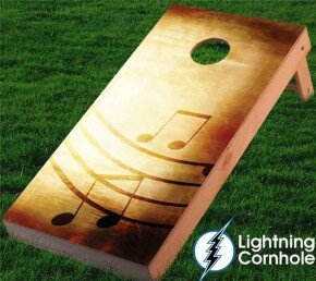 Music Notes Cornhole Board by Lightning Cornhole