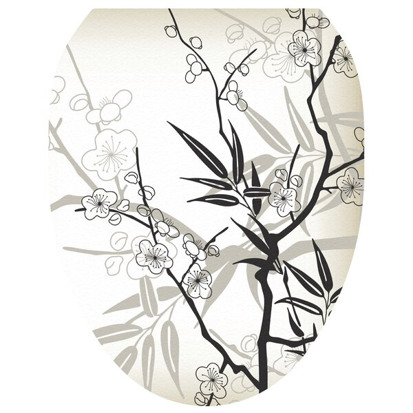 Blossoms Toilet Seat Decal by Toilet Tattoos