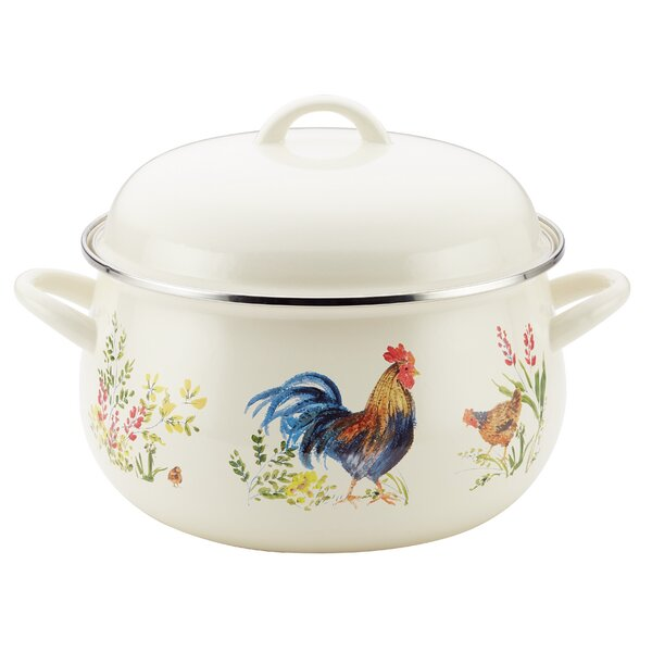 8 qt. Garden Rooster Stock Pot with Lid by Paula Deen