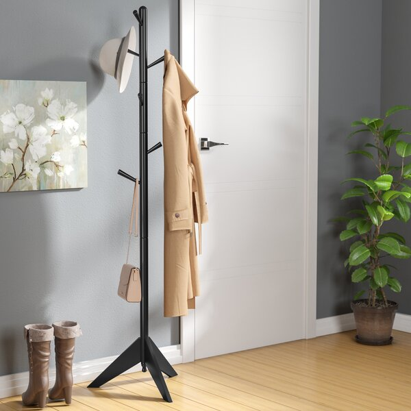 Freestanding Wood Coat Rack by Zipcode Design