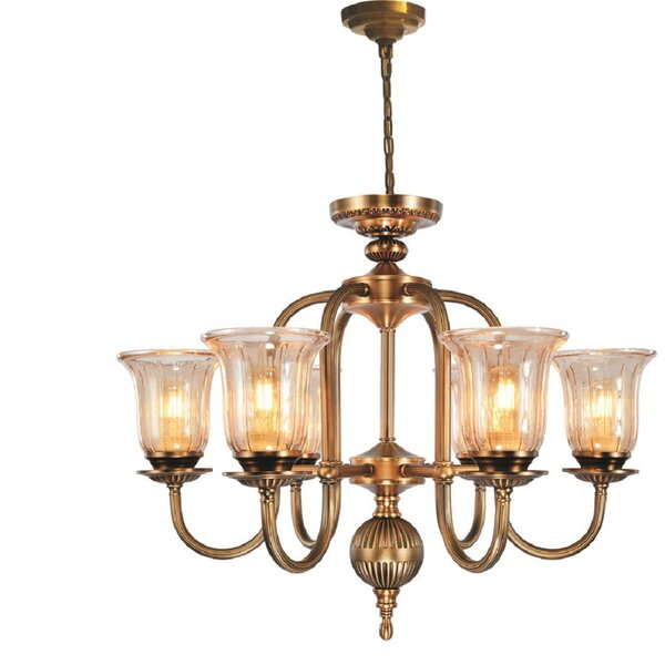 Jani 6 - Light Shaded Classic / Traditional Chandelier by Astoria Grand Astoria Grand
