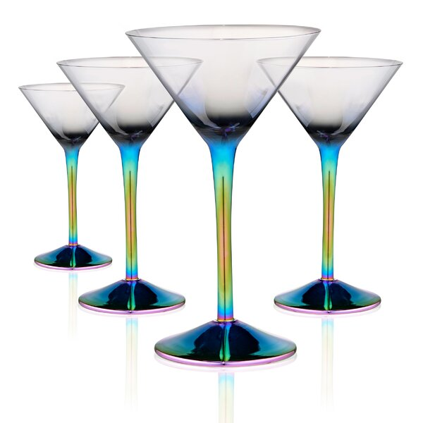 Rosenbaum Martini 8 oz. Glass Cocktail Glasses (Set of 4) by Ebern Designs