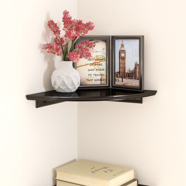 Tremont Floating Corner Shelf by Charlton Home