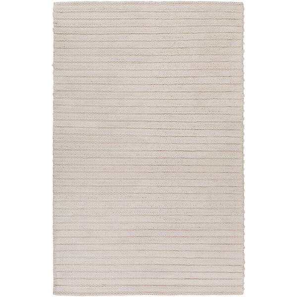Vallejo Hand-Woven White Area Rug by Langley Street