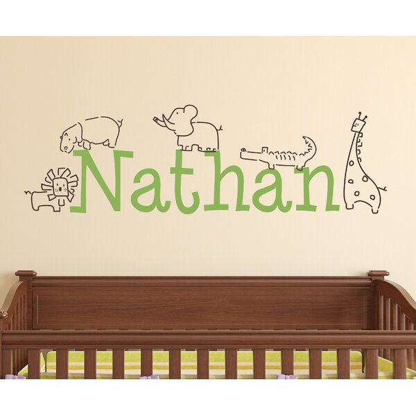Personalized Jungle Animals Wall Decal by Alphabet Garden Designs