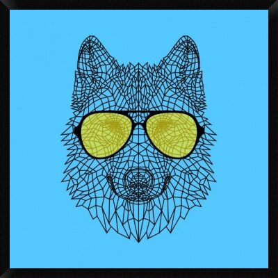 Woolf In Yellow Glasses Framed Graphic Art Print On Canvas Naxart Size 42 H X 42 W X 1 5 D Shefinds