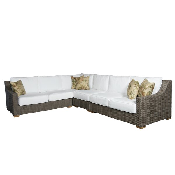 Hobson Patio Sectional with Sunbrella Cushions by Bayou Breeze