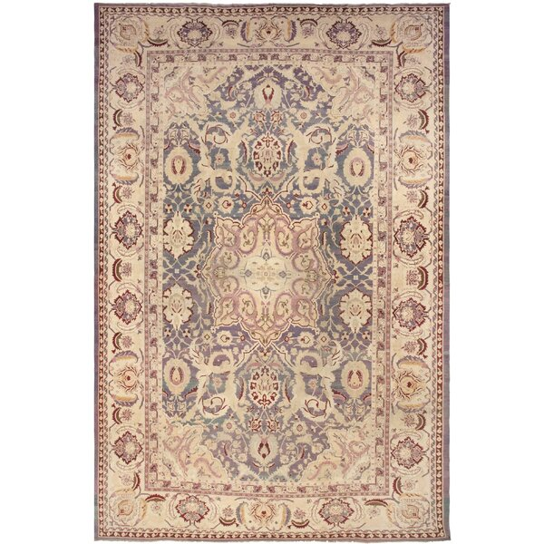 One-of-a-Kind Agra Hand-Knotted Brown 14' x 20'10 Wool Area Rug