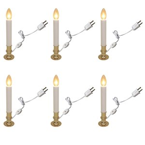 Flameless Taper Candle (Set of 6)