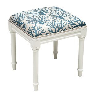Check Prices Abelardo Coral Vanity Stool by Highland Dunes